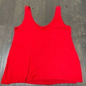 Blush Tops - Red Fitted Tank